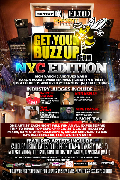 NYC 'Get Your Buzz Up Industry Experience- July 24th