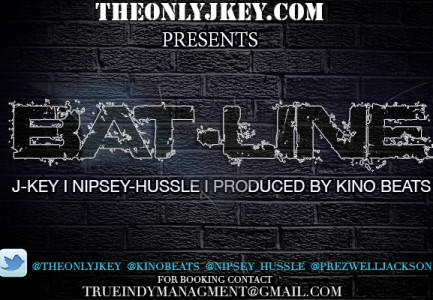 "(New Music)-@TheOnlyJKey ""Bat-Line""  Featuring @NipseyHussle Produced @Kinobeats"